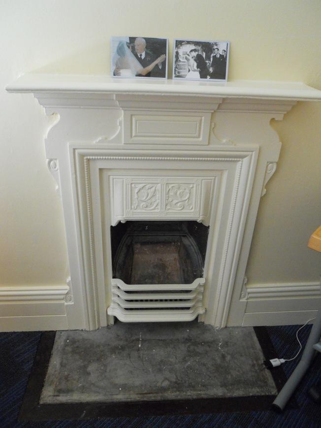 Cute little fireplace in my room
